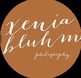 Logo Hochzeitsfotografin Xenia Bluhm